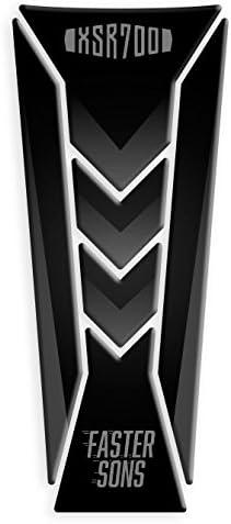 M Blanco//rojo Protector de dep/ósito para Yamaha XSR 700 2015-2020 GP-243