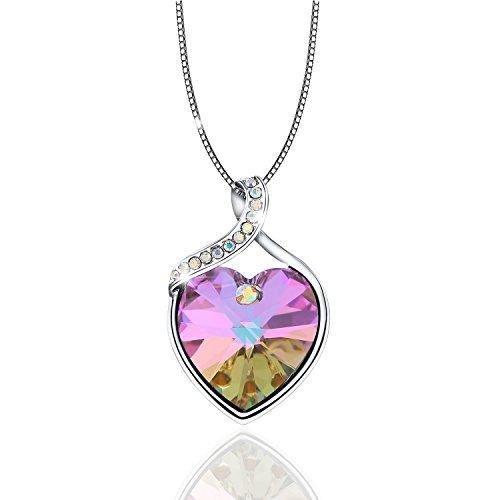 "OSIANA ""Forever Love""Heart Pendant Women's Necklace The Crystal From Swarovski 18"" by OSIANA"