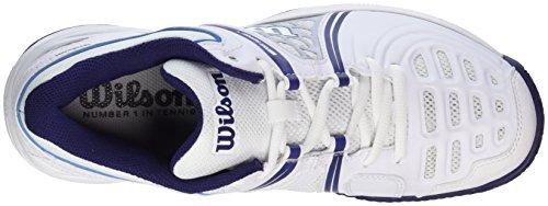 Wilson 97512295, Scarpe da Tennis Donna, Multicolore (White / Pearl Blue / Astral Aura), 41 EU