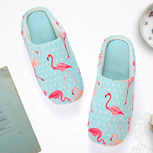 Animal Flamingos Cute Unisex ALOTUS amp; Colorful Soft Indoor with Colorful Light Blue Slippers Rxaa6Zv