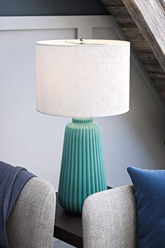 Kenroy Home Ziggy Table Lamp, Teal