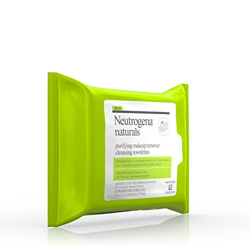 41RNwCBBhhL Neutrogena Naturals Purifying Makeup Remover Cleansing Towelettes, 25 Sheets