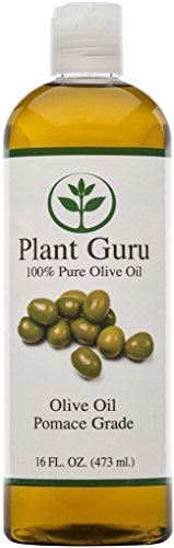 "100% PURE NATURAL CARRIER OILS COLD PRESSED 16 oz - Olive Oil ""Pomace Grade"""