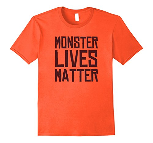 Mens Monster Lives Matter - Funny Halloween Costume Shirt XL (Group Halloween Costume Ideas For Adults 2017)
