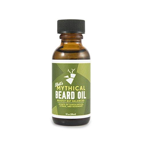 Rhett's Beard Oil - All natural - Scent of sandalwood, citrus, and rosemary - 1 fl oz bottle - Created by YouTube celebrities Rhett and Link from Good Mythical Morning (Sandalwood Scent Citrus)