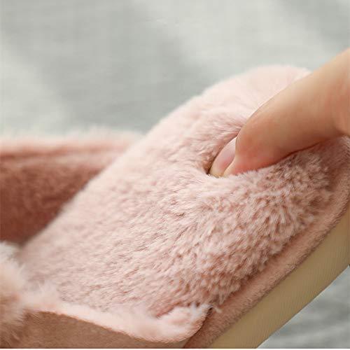 di in D Pantofole antiscivolo casa cotone coperta peluche caldo coppia YMFIE morbido confortevole scarpe invernali cotone fondo fwnEqO1a