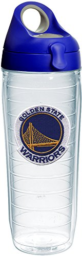 Tervis 1231052 NBA Golden State Warriors Primary Logo Tumbler with Emblem and Blue with Gray Lid 24oz Water Bottle, -