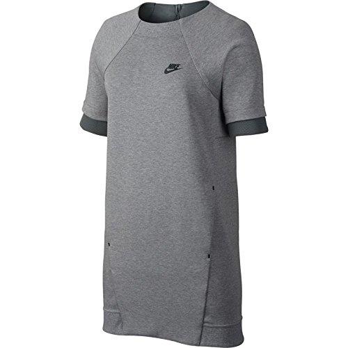 Quarter Zip Bonded Fleece (Nike Tech Fleece Grey Womens Dress Size L)
