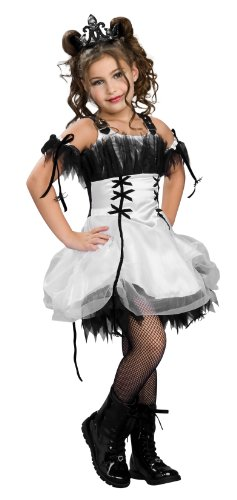 Girls Pop Fairy Costumes (Drama Queens Gothic Ballerina Costume, white, Medium)