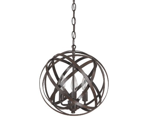 Capital Lighting 4233Rs Axis 3 Light Pendant  Russet Finish By Capital Lighting