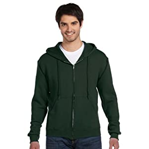 Fruit Of The Loom Men's Full Zip Hoodie Sweatshirt, Medium, Forest Green