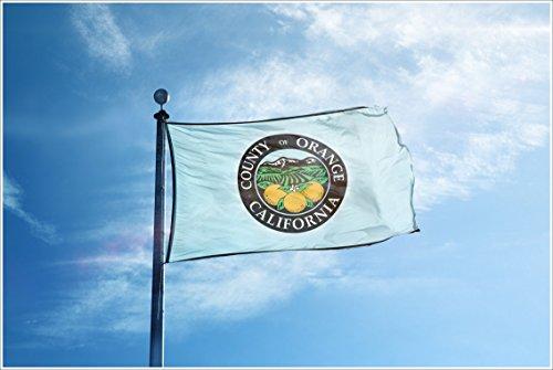 Apedes Seal of the Orange County California Garage Hangar Basement Flag 3x5 Feet by Apedes