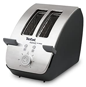Tefal Tt704115 Avanti Toaster 2 Slice Chrome And Black