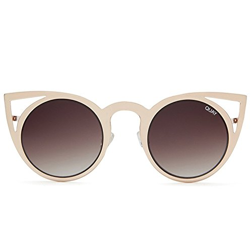 Quay Australia INVADER Women's Sunglasses Metal Cat Eye Frame - - Glass Australia Frames