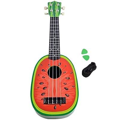 Lightahead Watermelon shaped Ukulele Guitar 23 Inch Classical Nylon String