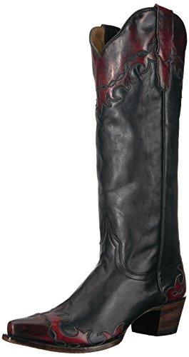 (Stetson Women's Raven Western Boot, Black, 7.5 Medium US)