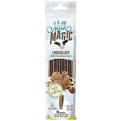 Chocolate Straws (Milk Magic Milk Straws Chocolate 1 Pk of 6 Straws)