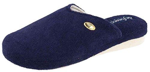 DE FONSECA ciabatte pantofole cotone da donna mod. VERONA W104 SPUGNA blu