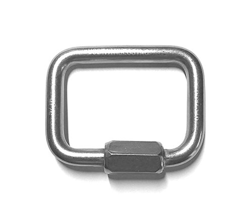 Stainless Steel 316 Square Quick Link 5/16'' (8mm) Marine Grade by US Stainless