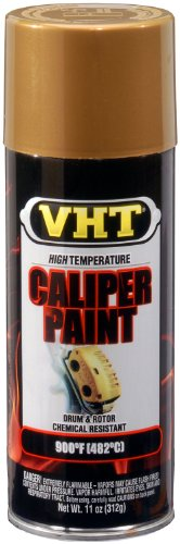 VHT (SP736-6 PK) Gold High Temperature Brake Caliper Paint - 11 oz. Aerosol, (Case of 6)