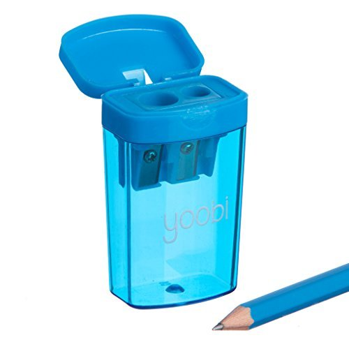 Yoobi On The Double Two Hole Pencil Sharpener (Blue)