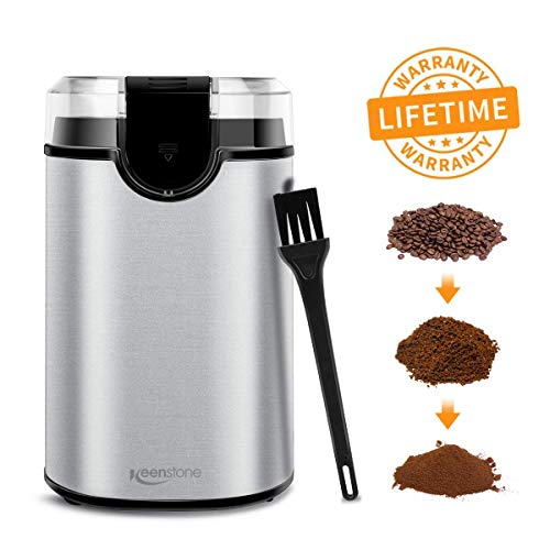 Fantastic Deal! Coffee Grinder Electric, Spice Grinder Blade Grinders with Powerful Stainless Steel ...