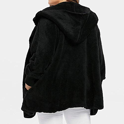 À Manches Manteau Plein Solide Dame Out Longues Veste D'hiver Noir Chaud Wear Taille Loisirs Dames Mode Manteaux La Oudan Décontracté Féminine Chaude Manteau Plus Air Chemisier De q60Ognxt
