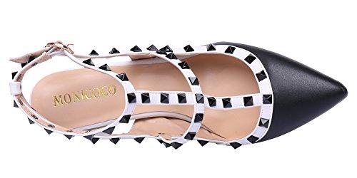 MONICOCO 2015 - Zapatos de vestir para mujer Schwarz-Weiß PU