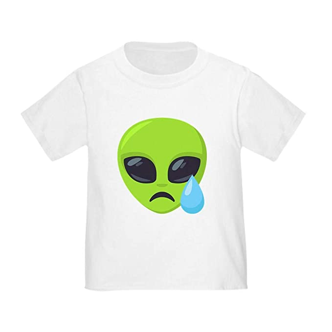 233656e479b Image Unavailable. Image not available for. Color  CafePress Alien Tear  Emoji Toddler T Shirt Cute ...