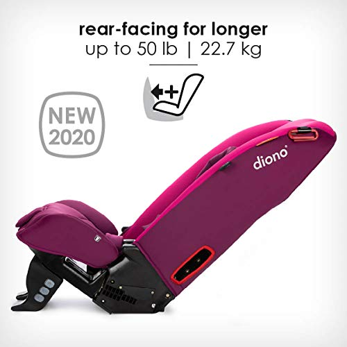 41RZW8HG5vL - Diono Radian 3RX 3-in-1 Rear And Forward Facing Convertible Car Seat, Head Support Infant Insert, 10 Years 1 Car Seat Ultimate Safety And Protection, Slim Design - Fits 3 Across, Pink Blossom