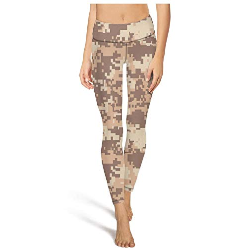 DFTH Army Camo Camouflage Military Leggins High Waisted Yoga Pants Workout Running Tights Leggings Pockets Durable