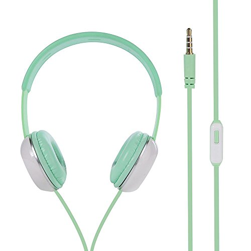 Creazy® Surround Stereo Headset Headband Headphone with Mic for iPhone iPad (Light Green) (Mic Prom Dresses)