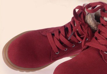 Laruise Red Bottomed Boot Flat Snow Leather Women's qxrwfYqZ