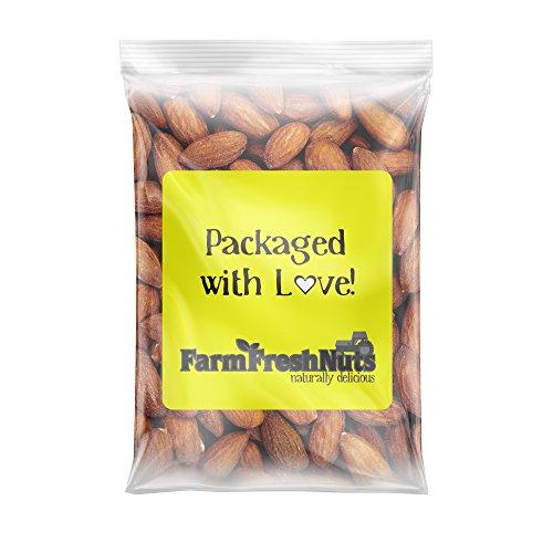 Farm Fresh Nuts CALIFORNIA ALMONDS Dry Roasted with healthy Himalayan Salt (4 LB)