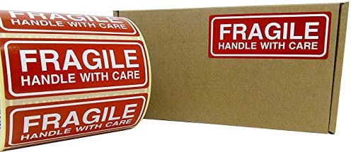 500 fragile Stickers Handle With Care Stickers Taille 90x35mm