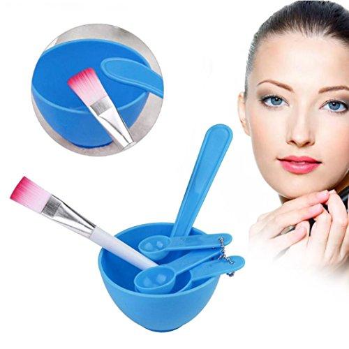 YJYdada 4 in 1 DIY Facial Mask Mixing Bowl Brush Spoon Stick Tool Face Care Set