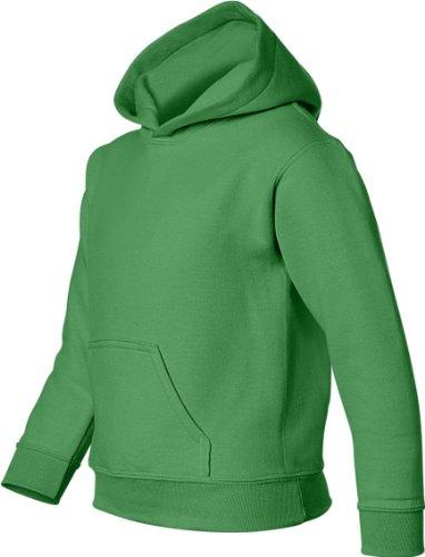 Gildan Big Boys' Heavy Blend Hooded Pocket Sweatshirt, Irish Green, X-Small