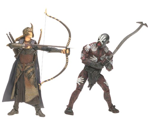 Lord of the Rings Elven Archer Berserker Uruk-Hai 2 Pack