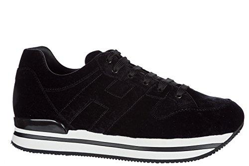 Hogan Damenschuhe Turnschuhe Damen Wildleder Schuhe Sneakers h222 Schwarz