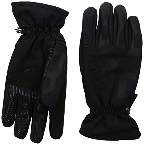 Under Armour Men's ColdGear Infrared Storm Stealth Gloves, Black /Black, Medium