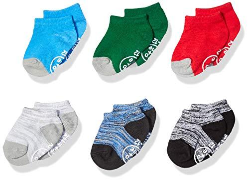 - Ro + Me by Robeez Baby Boys 6-Pack Socks, Alex athletic assorted primaries, 6-12 Months