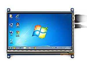 Waveshare Raspberry Pi 7 Inch Capacitive Touch Screen LCD(B) HDMI 800*480 For Raspberry Pi/BB BLACK/PC/Various Systems/Raspberry Pi 3 Model B