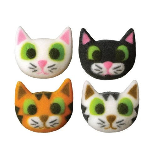 Kitten Cat Sugar Decorations Cookie Cupcake Cake 12 Count