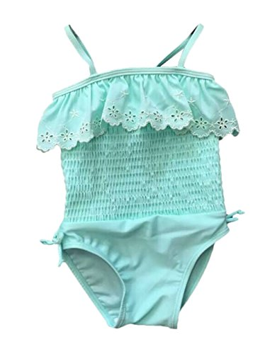 Newborn Infant Girls Swimwear One Piece Swimsuit Blue