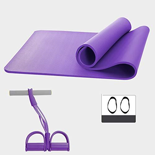 Violet 18562 cm WHoIppRmOrella Tapis de Yoga antidérapant pour Fitness, Pilates, Gym, Voyage, Yoga Pliable, léger 15 mm 10 mm