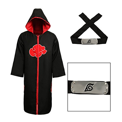 Partyever Unisex Akatsuki Organization Members Cosplay Cloak Halloween