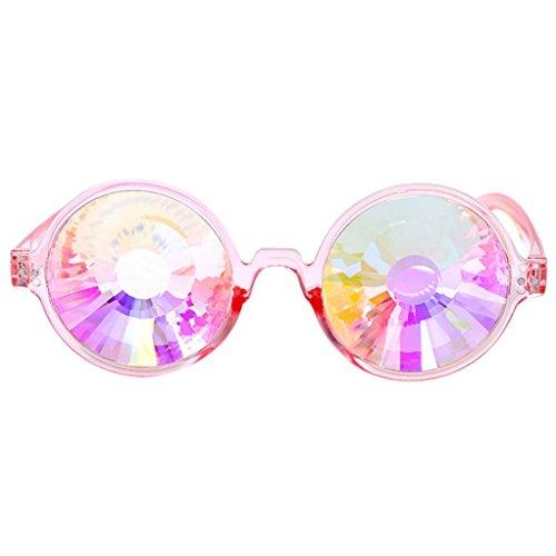 Women Fashion Sunglasses, Lotus.flower Kaleidoscope Glasses Rave Festival Party EDM Sunglasses Diffracted Lens Eyewear Outdoor Glasses (New - Flower Glasses