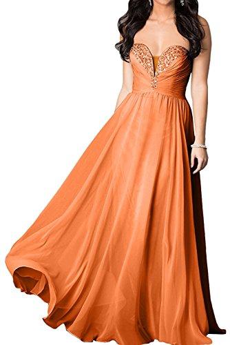 linie Orange Festlichkleider Rock Partykleider mia Abendkleider Kleider Lang Elegant Champagner Chiffon Jugendweihe La Braut A gSqfw1