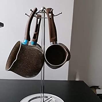 caff/è con Manico Singolo Mini pentolino per Latte Reuvv t/è Pentolino Antiaderente per Latte Anti-scottatura Antiaderente Uova 8 cm