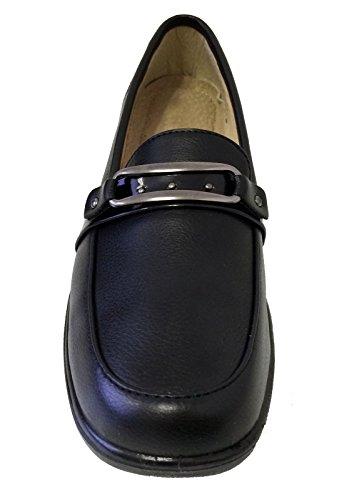 ... Noir Napl-03 Femmes Mocassins Hôtel Restaurant Marche Slip Sur Confort  Travail Chaussures Antidérapantes, ...